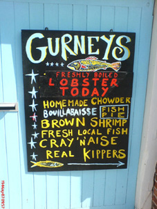 Burnham Market Fish Shop Sign