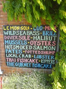 Burnham Market Fish Shop Sign