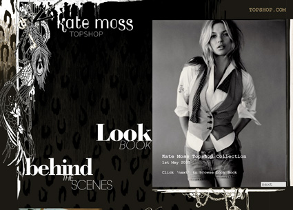 Kate Moss Topshop website