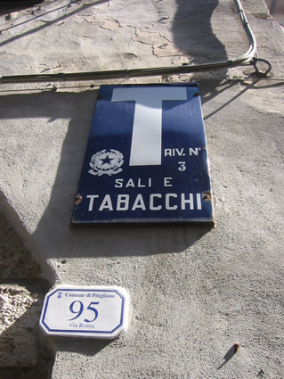 Street signs with nice type